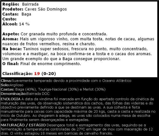 apreciacao Quinta de S Lourenço Single State Tinto 2010