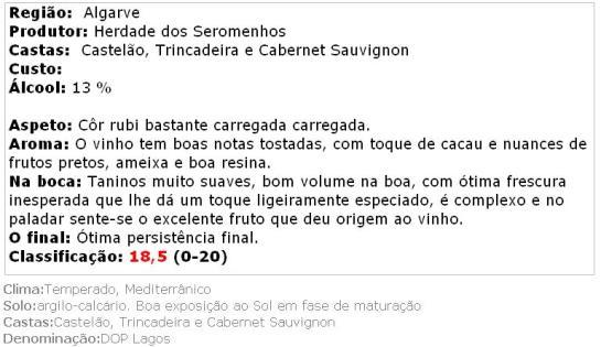 apreciacao Quinta do Ferrel Reserva Tinto 2013