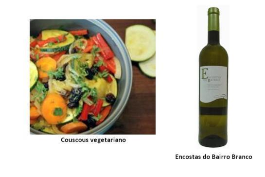 Ingredientes Couscous (cozido): 500 g Azeite: um fio Pimento: 1 Curgetes: 1 Cenouras: 2 Cebola: 1 Alho: q.b. Passas de uva: 50 g Mel: 2 colheres de sopa Cominhos em pó: q.b. Limão (sumo): 1 Salsa fresca: q.b. Água: q.b.   Preparação Numa frigideira colocar o azeite e os cominhos em pó (se gostar pode também pôr um pau de canela) para fazer o refogado inicial. Depois acrescentar a cebola cortada às rodelas, o alho picado, as cenouras às rodelas, os pimentos em tiras finas, as curgetes às rodelas e tempere com mais cominhos sal e deixe refogar. Em seguida, adicione as passas de uva, um pouco de água e deixe cozinhar por dois minutos. Ainda ao lume, adicione uma colher de mel, o sumo de um limão e polvilhe com salsa fresca picada (pode também utilizar coentros) e em seguida deite tudo sobre uma taça grande com o couscous (previamente cozinhado). Enfeite o prato de couscous vegetariano com salsa fresca picada (pode também usar coentros), um fio de mel e mais uma pitada de cominhos em pó.