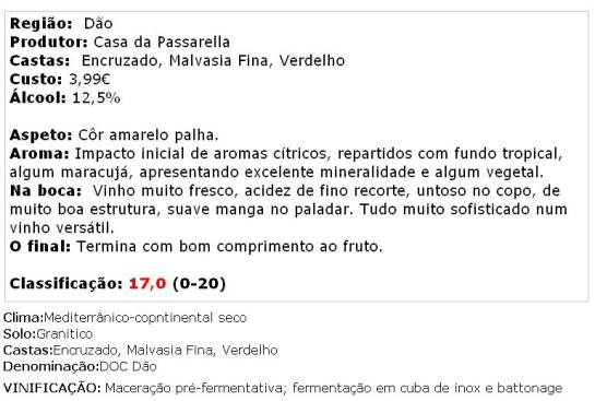apreciacao Casa da Passarella  Descoberta Branco 2013