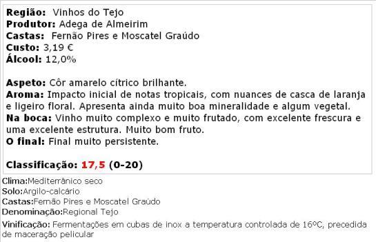 apreciacao Portas do Tejo Branco 2013