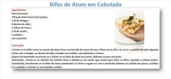 rBifes de Atum em Cebolada