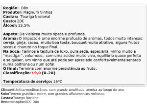 apreciacao Ribeiro Santo Touriga Nacional Tinto 2012