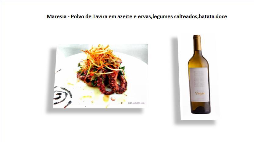 pMaresia - Polvo de Tavira em azeite e ervas,legumes salteados,batata doce