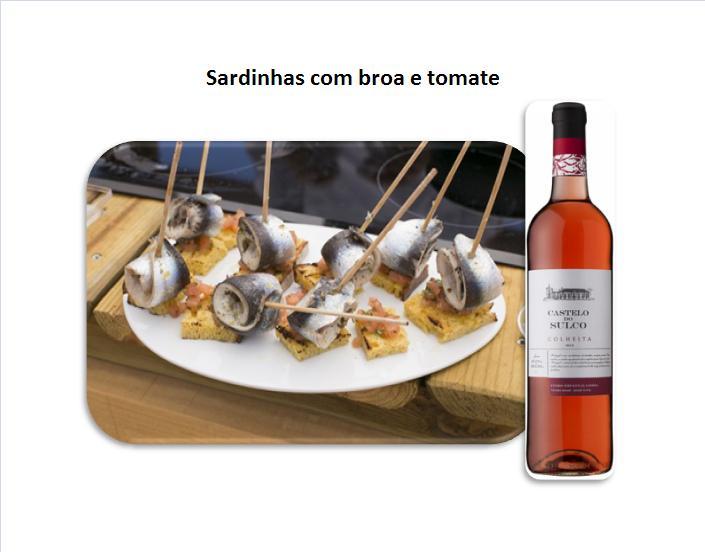 Sardinhas com broa e tomate