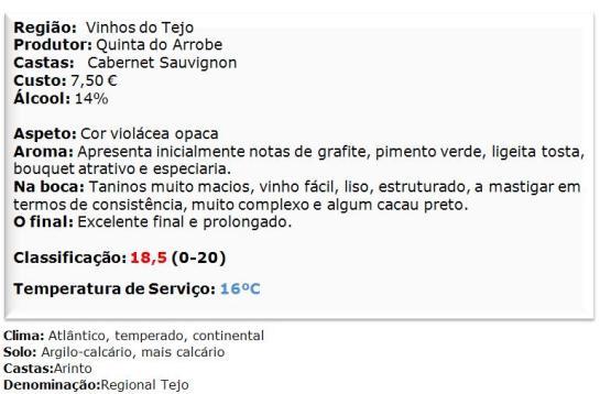 apreciacao Quinto Elemento Cabernet Sauvignon Reserva Tinto 2011