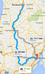 ROTEIRO 1 - Alverca a Bombarral