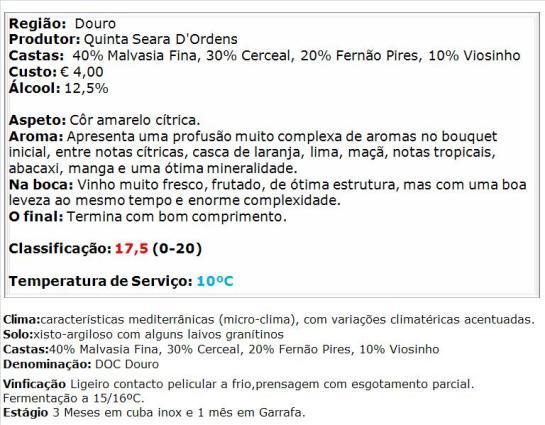 apreciacao Quinta do Carqueijal Branco 2014