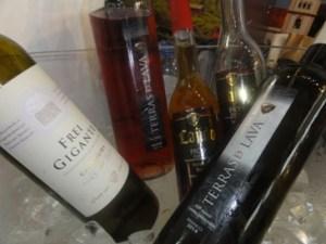 Vinhos dos Açores no gelo
