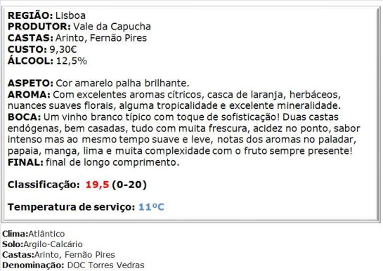 apreciacao Vale da Capucha Branco 2013 DOC TVD