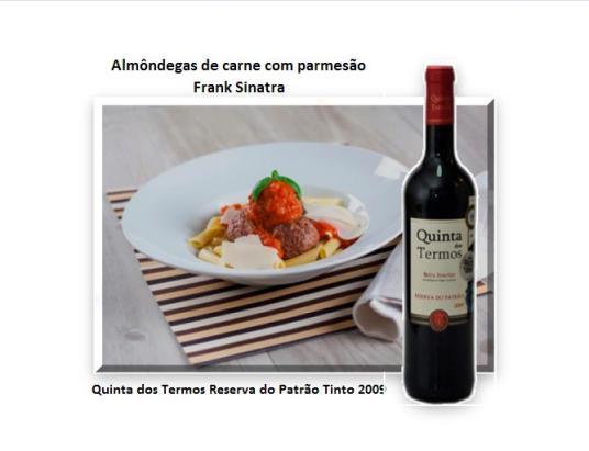 Almôndegas de carne com parmesão - Frank Sinatra