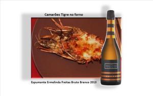 Camarões Tigre no forno