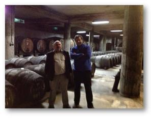 Com o anfitrião, Engº Aníbal Neto da Rota dos Vinhos do Algarve