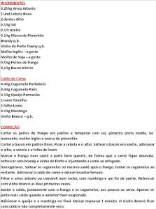 rpRISOTO DE FRANGO COM COGUMELOS