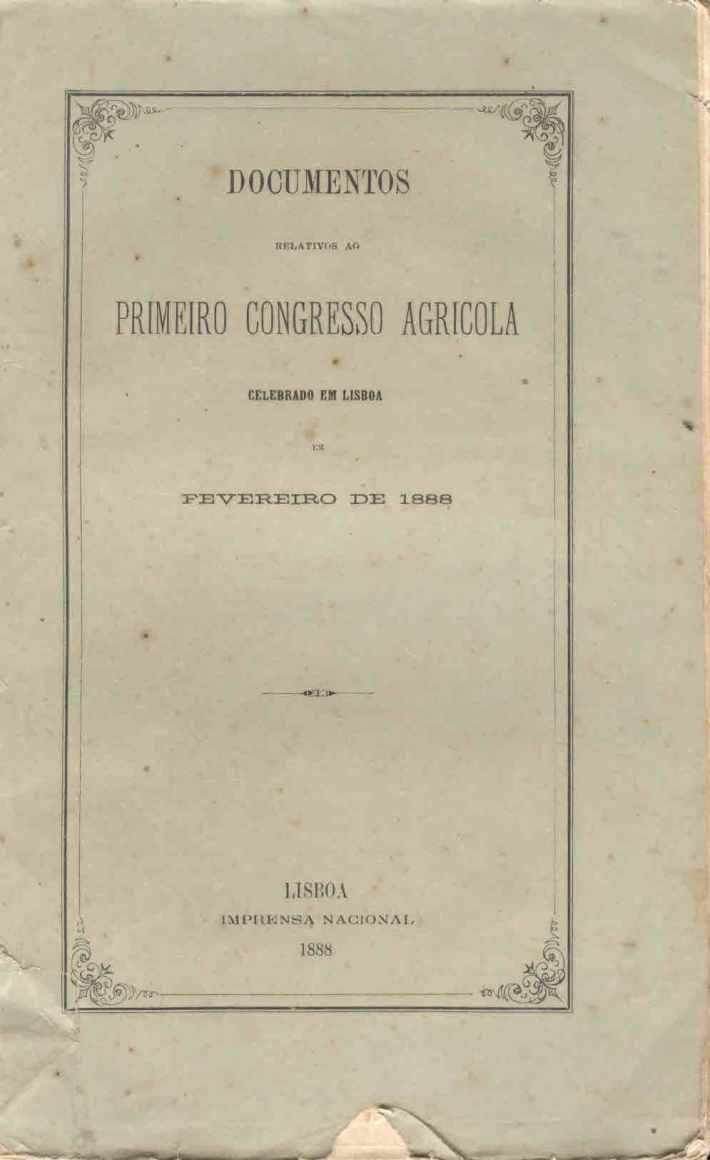 Boletim do 1º Congresso Agrícola