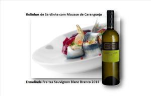 Rolinhos de Sardinha com Mousse de Caranguejo