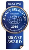 Monde Selection - Bronze Quality Award 2016 (Blue version)