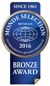 Monde Selection - Bronze Quality Award 2016 (Blue version)