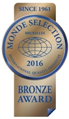 Monde Selection - Bronze Quality Award 2016