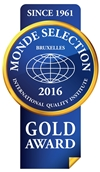 Monde Selection - Gold Quality Award 2016 (Blue version)