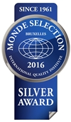 Monde Selection - Silver Quality Award 2016 (Blue version)