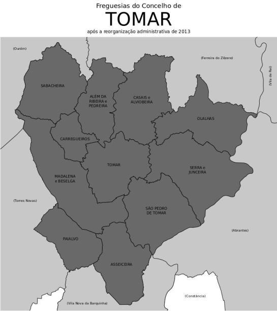 MAPA DO CONCELHO DE TOMAR