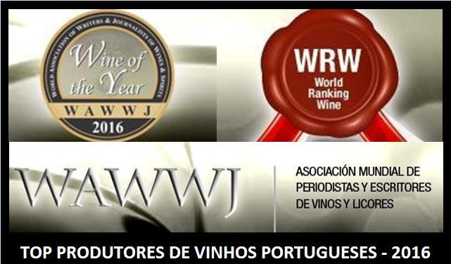 WAWWJ 2016 - RANKING DE PRODUTORES DE VINHOS PORTUGUESES E RANKING MUNDIAL