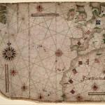 Atlântico Norte num mapa de 1550
