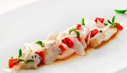 Salada de Bacalhau Assado com Pimentos