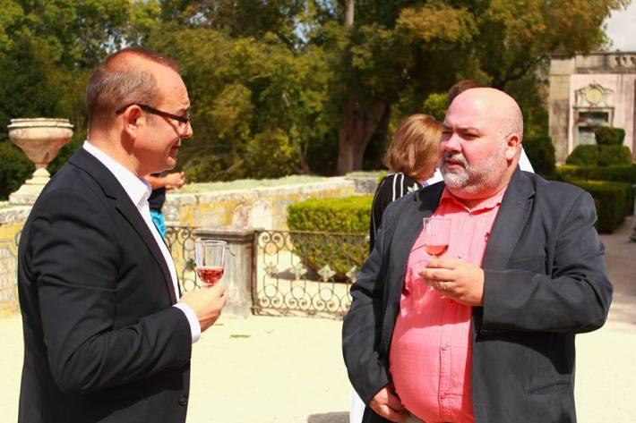 Conversando com o Sr. Embaixador da Moldávia