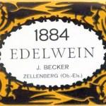 Rotulo alsaciano de um vinho Millésime 1884