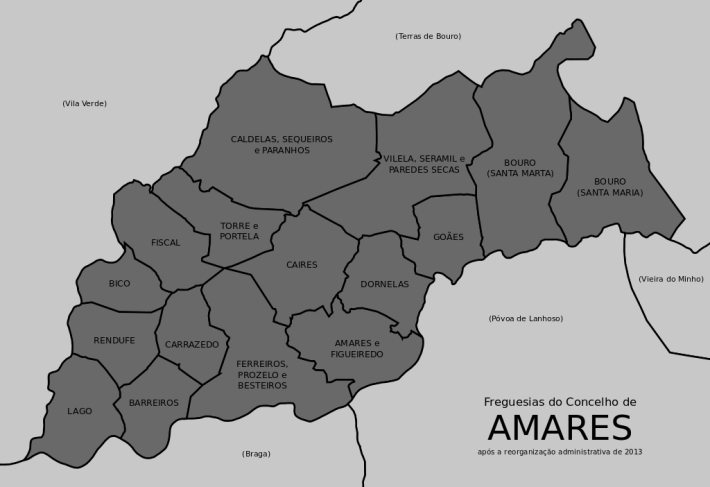 mapa amares