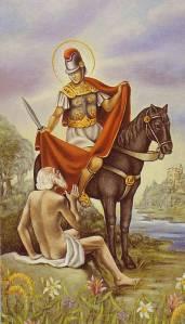 Saint Martin oferece o seu casaco a um homem pobre ; De Vignes En Vin®