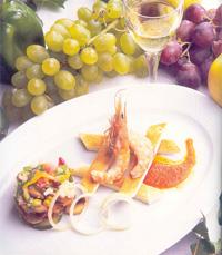 Salada de Cogumelos Frescos com Courgettes e Gambas