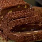 Semifreddo de chocolate e pistache