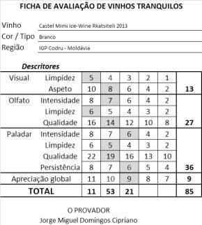 ficha apreciacao Castel Mimi Ice-Wine Rkatsiteli 2013