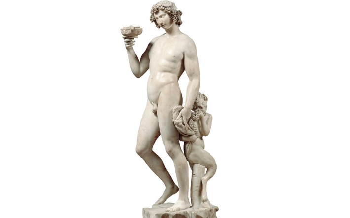 Dionysus deus grago do teatro e do vinho