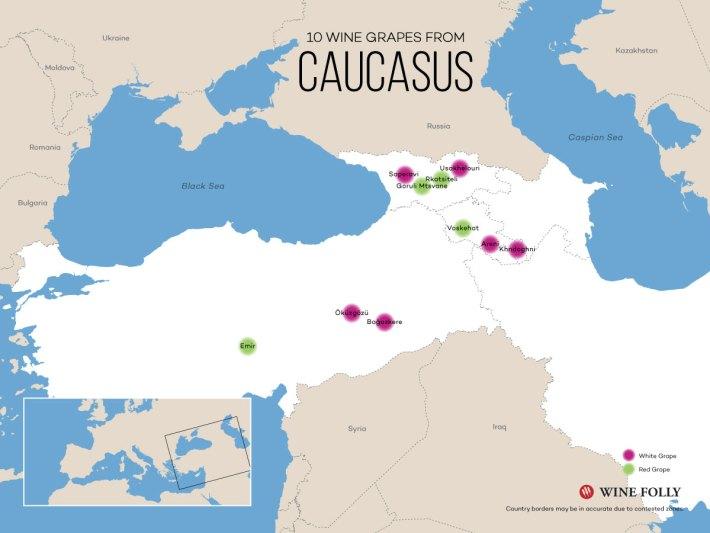 Mapa de distribuicao provavel há mais de 7000 anos. FONTE: Wine Folly