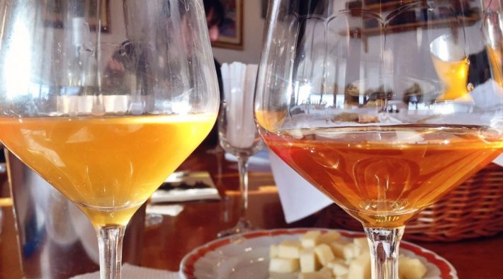 Duas tonalidades e estruturas para o Orange Wine