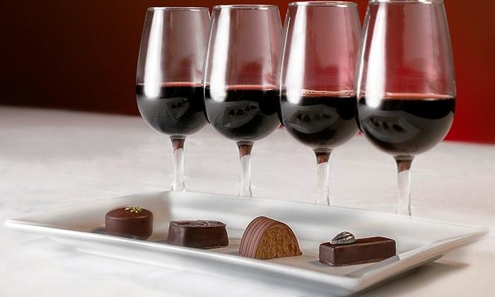 combinar choc e vinhos
