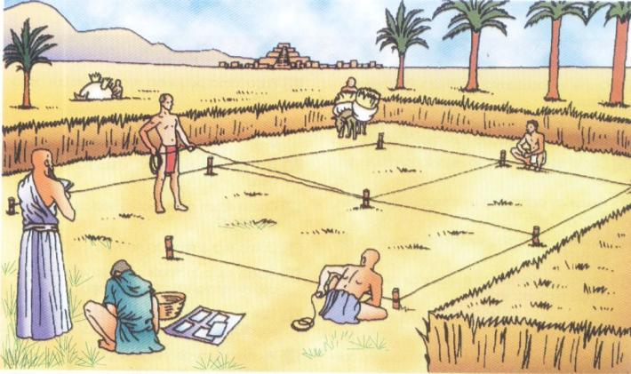 Marcação das dimensões duma vinha na Mesopotâmia