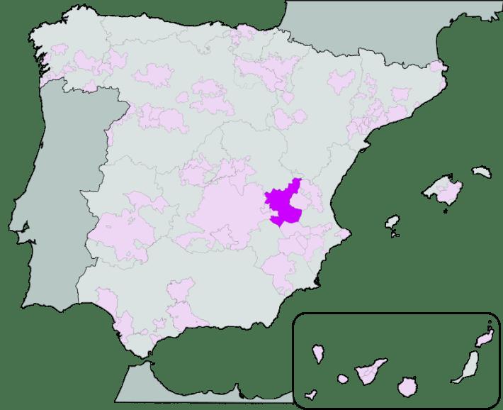 Localizacao da DO Manchuela