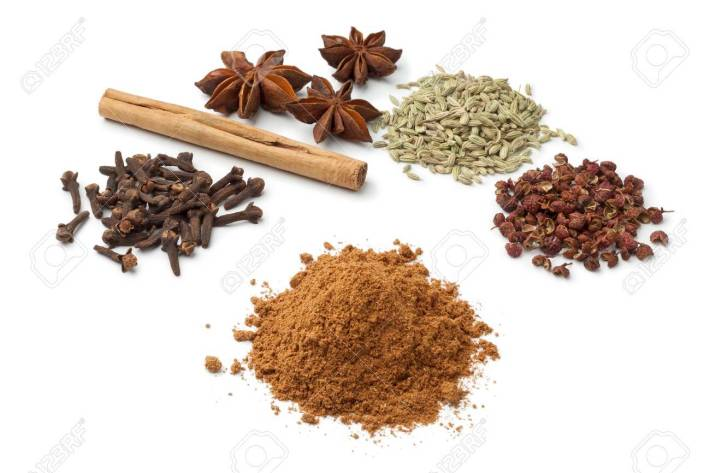 Five spices é composto destes ingredientes