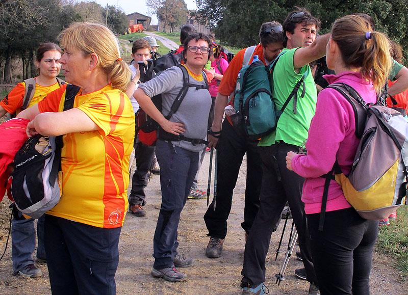 Camí de Sant Jaume: Vall d'en Bas - L'esquirol - Vic 37 - 18 i 19 de març de 2017