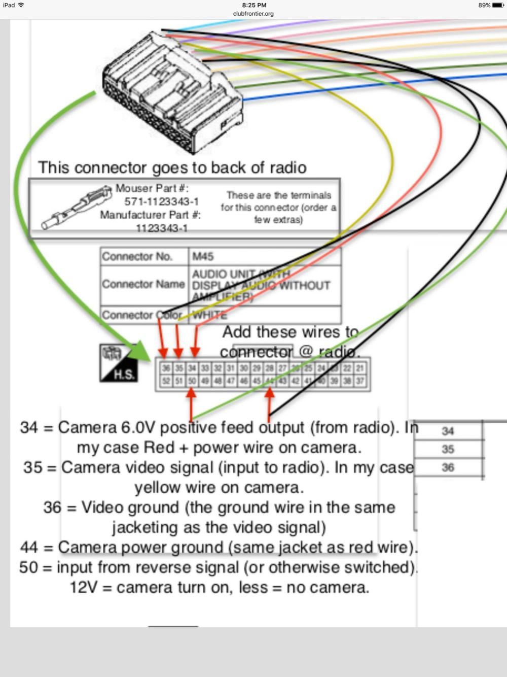 medium resolution of ipad camera wiring diagram wiring diagram centreadding aftermarket camera to 2016 frontier sv nissan frontier forumipad