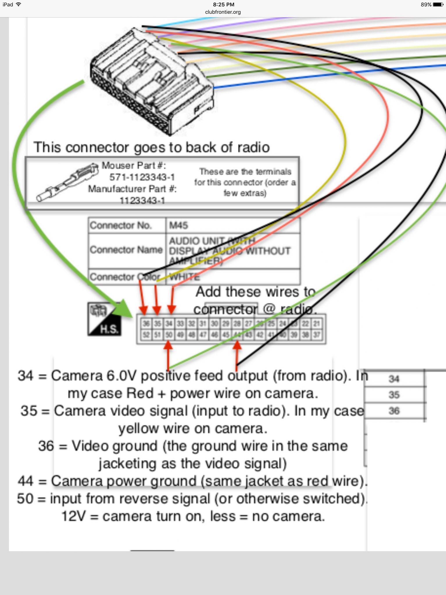 hight resolution of ipad camera wiring diagram wiring diagram centreadding aftermarket camera to 2016 frontier sv nissan frontier forumipad
