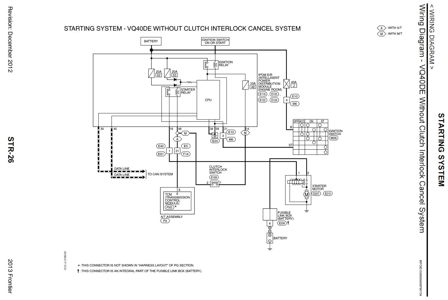 Download [SCHEMA] 2012 Nissan Frontier Electrical Wiring