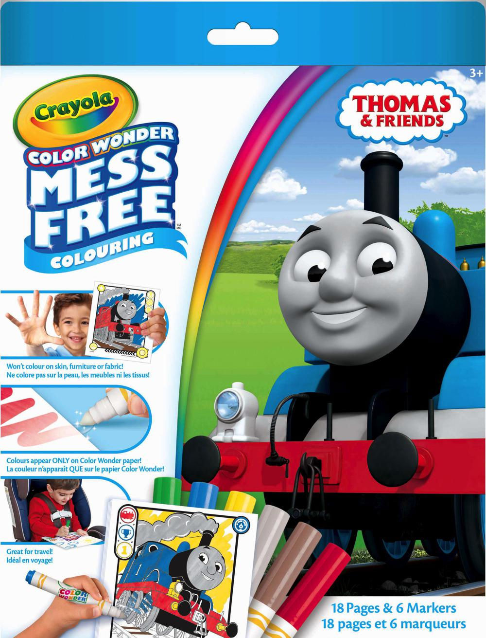 thomas le train ensemble color wonder