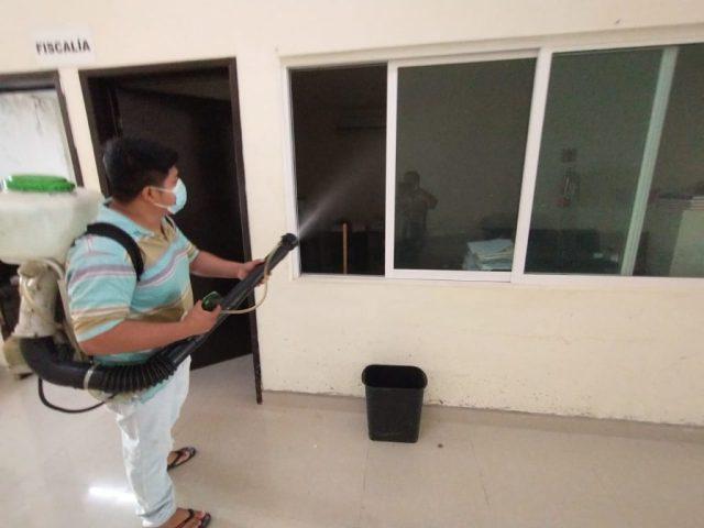 Poder Judicial continúa con desinfección en sus edificios