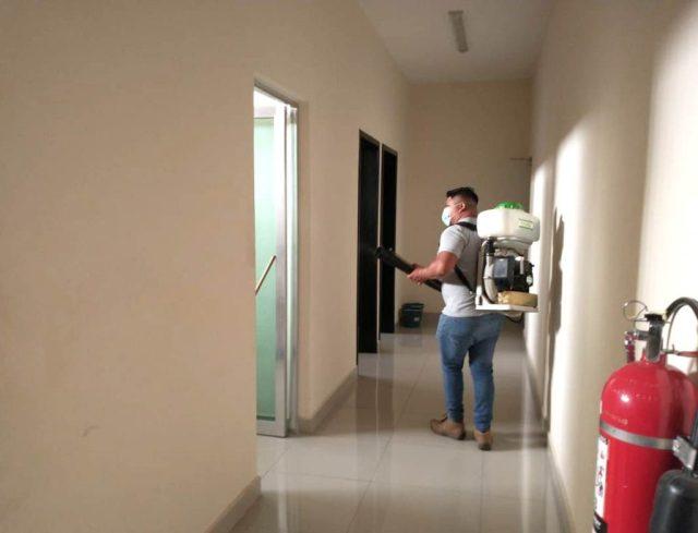 Reporte semanal de desinfección en edificios del Poder Judicial de Yucatán
